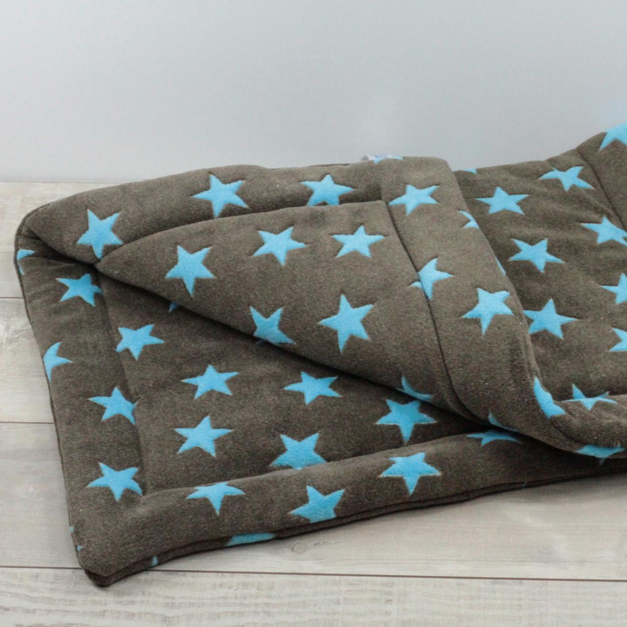 Decke Stars.Matdox Fleece Decke Stars Braun Turkis Der Hundsladen