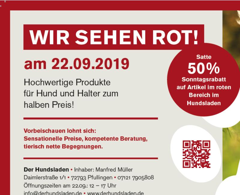 Verkaufsoffener Sonntag im Hundsladen am 22.09.2019